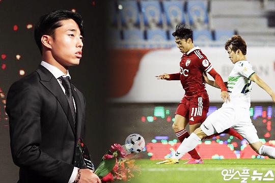 지난해 K리그2 MVP 이동준이 데뷔 첫 K리그1 도전에 나서고 있다(사진=엠스플뉴스, 한국프로축구연맹)