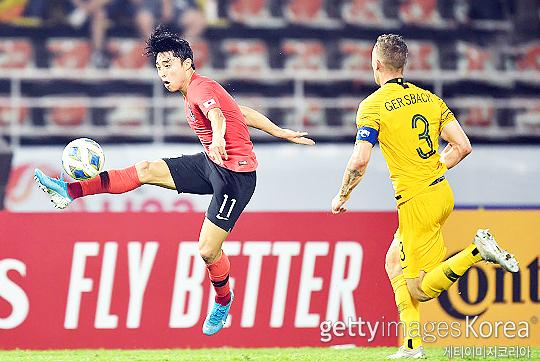 한국 U-23 축구 대표팀 공격수 이동준(사진 왼쪽)(사진=게티이미지코리아)