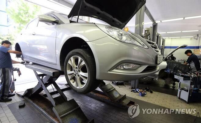대전의 한 자동차 수리업체 [연합뉴스 자료사진] ※ 기사의 특정 내용과 관계 없음.