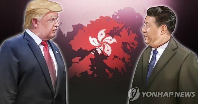 홍콩보안법 제정 이후 미중 갈등 격화 (PG) [장현경 제작] 일러스트