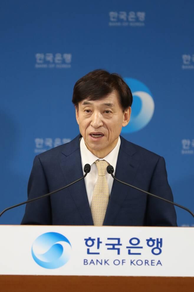 이주열 한국은행 총재가 16일 서울 중구 한국은행에서 열린 통화정책방향 기자간담회에서 발언하고 있다. /사진=한국은행