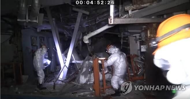 후쿠시마 제1원전 3호기 내부 모습 [일본 원자력규제위원회 공식 유튜브 캡처, 재판매 및 DB 금지]