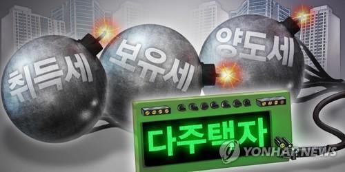 다주택자 취득·보유·양도세 폭탄 (PG) [장현경 제작] 일러스트