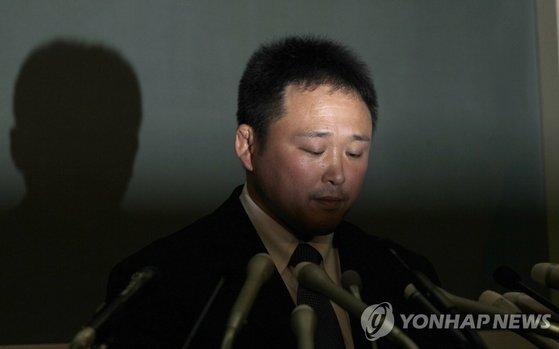 2013년 일본 여자 유도 국가대표팀 폭행 사건으로 사임한 소노다 류지 감독. [AP=연합뉴스]