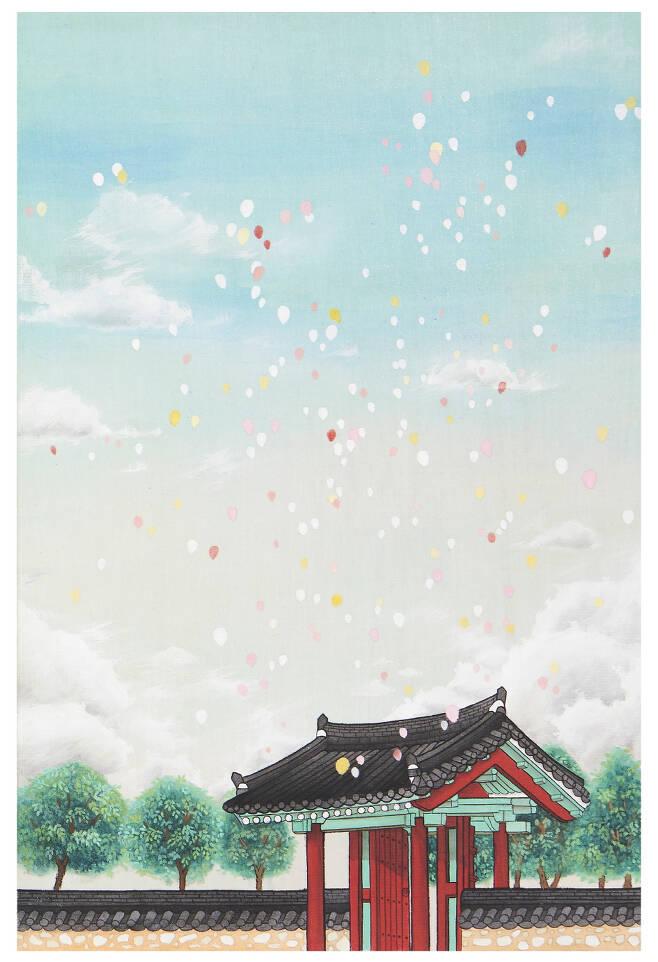 한국전통문화대학교 이지민-2015.03.20. PM 5.- 견본채색,41×27cm, 2020
