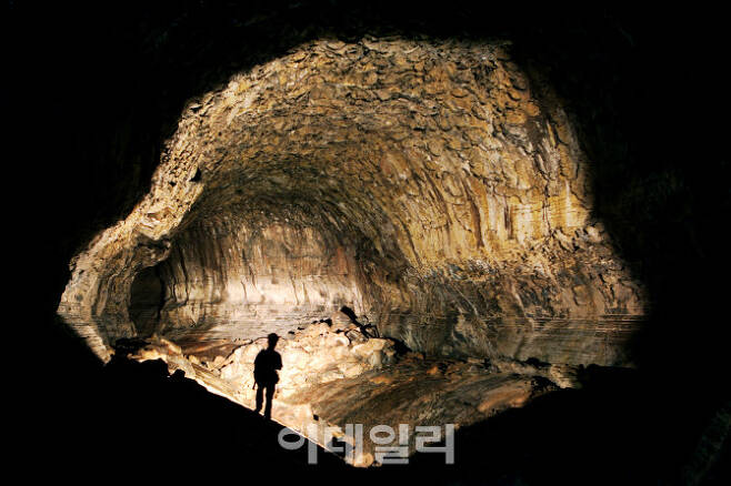 만장굴 비공개 구역 모습(사진=제주특별자치도 세계유산축전 본부)