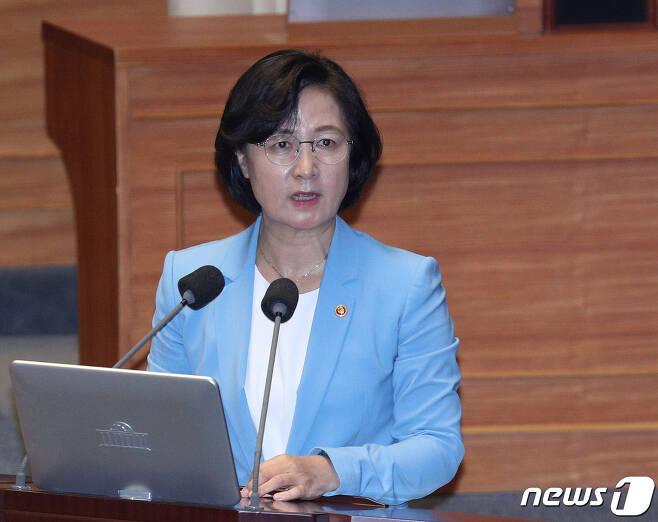 추미애 법무부 장관.  © News1 신웅수 기자