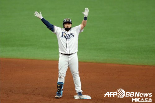 탬파베이 감독과 동료들은 최지만의 우타 홈런에 놀라움을 표했다. 사진=ⓒAFPBBNews = News1