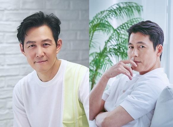정우성(오른쪽)과 이정재. 아티스트컴퍼니 제공