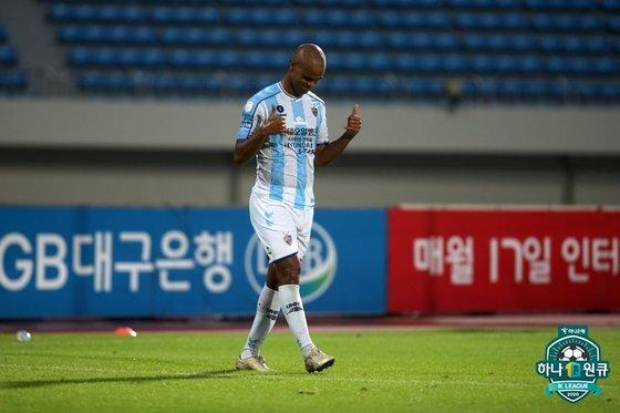 지난 25일 상주전 멀티골을 터뜨리며 시즌 17호골을 신고한 주니오. 한국프로축구연맹