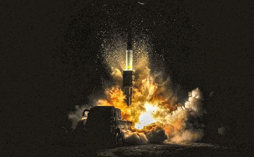 현무-2 탄도미사일이 가상 표적을 향해 발사되고 있다. 세계일보 자료사진