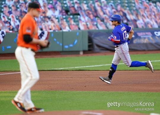 1일 샌프란시스코전에서 홈런을 터트린 추신수(사진=게티이미지 코리아)