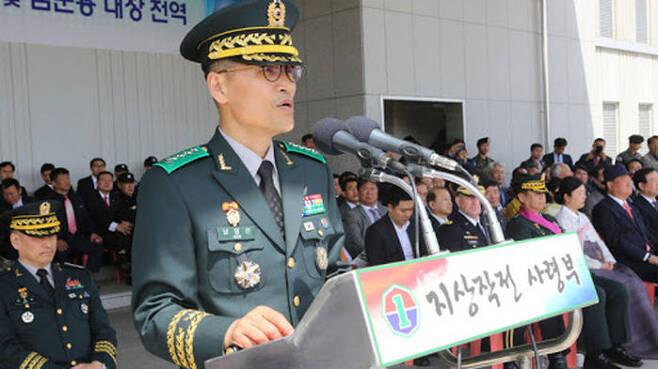 작년 6월 지상작전사령관에 취임한 남영신 육군 대장
