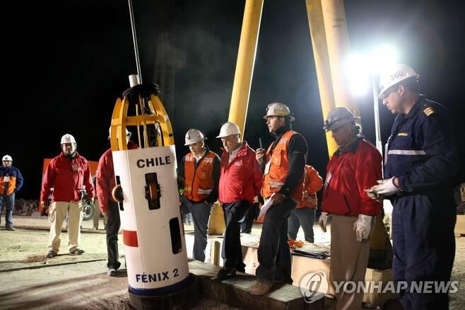 2010년 10월 구조되는 칠레 광부들 [칠레 정부/AFP=연합뉴스 자료사진] 재판매 및 DB 금지