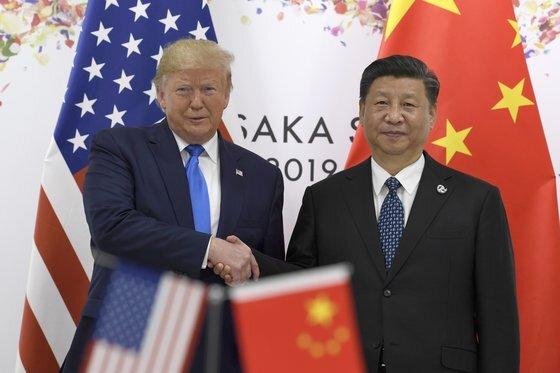 도널드 트럼프 미국 대통령(왼쪽)과 시진핑 중국 국가주석 [중앙포토]