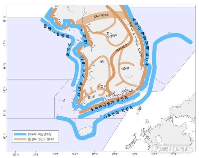 [서울=뉴시스] 5대 해양생태축