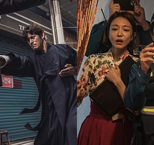 '태백권'에서 오지호(왼쪽)는 태백권 계승자 성준 역에, 신소율은 그의 아내 보미 역에 분한다. /그노스·꿀잼컴퍼니 제공