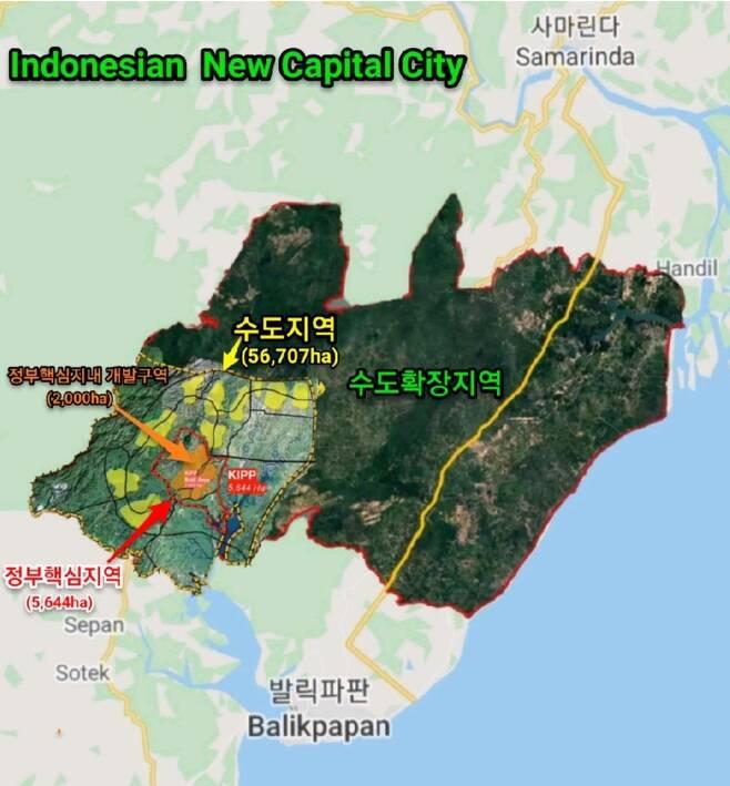 보르네오섬 인도네시아령 동칼리만탄의 신수도 부지 [LH 제공=연합뉴스]