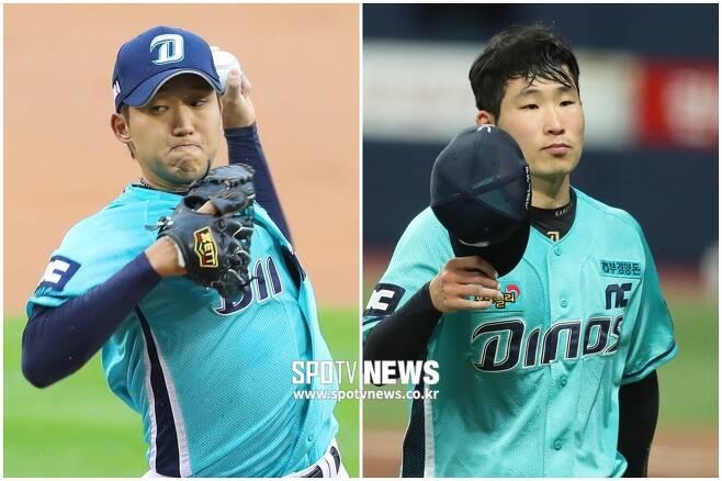 ▲ NC 다이노스 구창모(왼쪽)와 이재학 ⓒ 곽혜미 기자