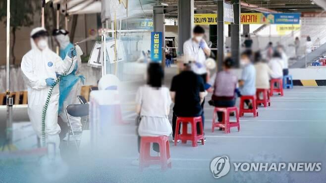 코로나19 선별진료소 모습 (CG) [연합뉴스TV 제공]