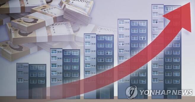 부동산 가격 상승 (PG) [김민아 제작] 일러스트