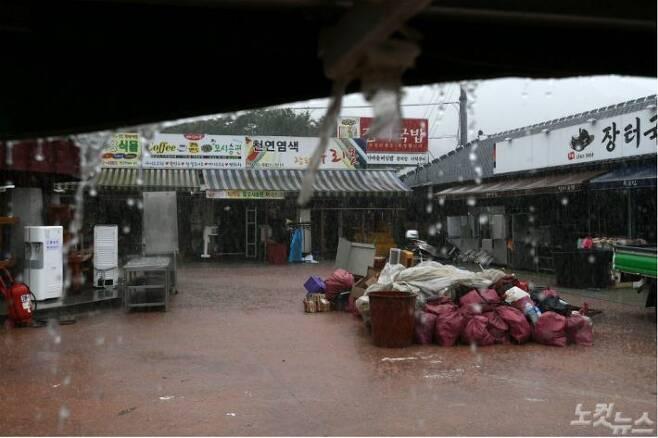 기록적인 폭우로 큰 피해를 입은 경남 하동군 화개장터(사진=이한형 기자/자료사진)