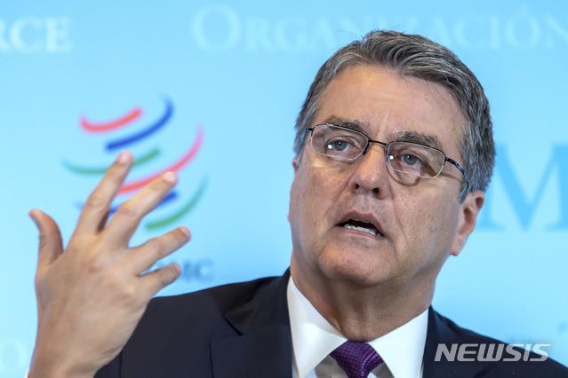 [제네바=AP/뉴시스]호베르투 아제베두 세계무역기구(WTO) 사무총장.