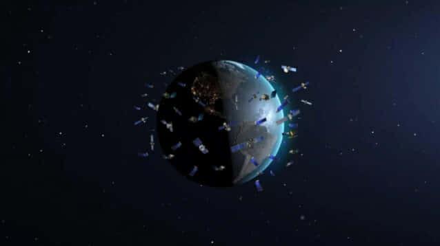 스페이스X는 수천 개 이상의 인공위성을 우주 궤도에 띄우고 있다. [사진= 미국 국립과학재단 국립광학, 적외선천문학연구실(NOIRLab)]