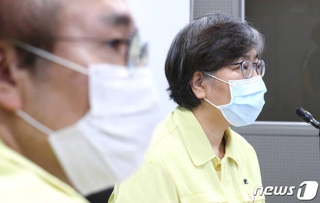 정은경 중앙방역대책본부장(질병관리본부장)./뉴스1 © News1 장수영 기자