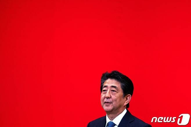 아베 신조 일본 총리. © AFP=뉴스1