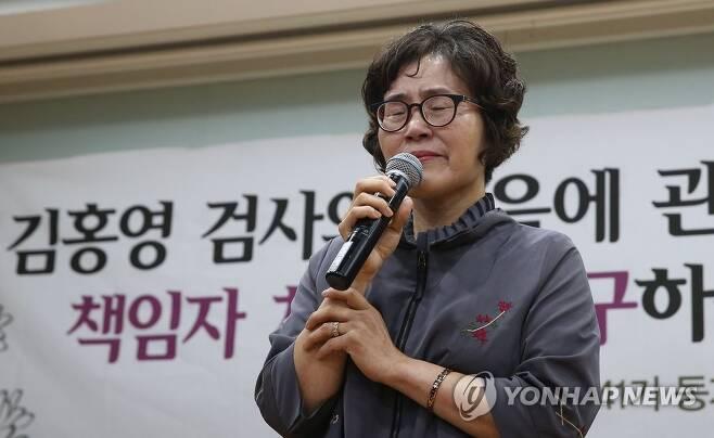 김홍영 검사 어머니 [연합뉴스 자료사진]