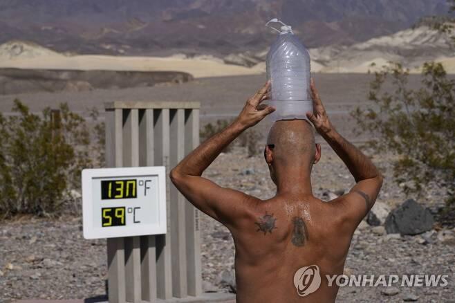 폭염에 역대 최고 기온을 기록한 캘리포니아주 데스 밸리 [AP=연합뉴스]