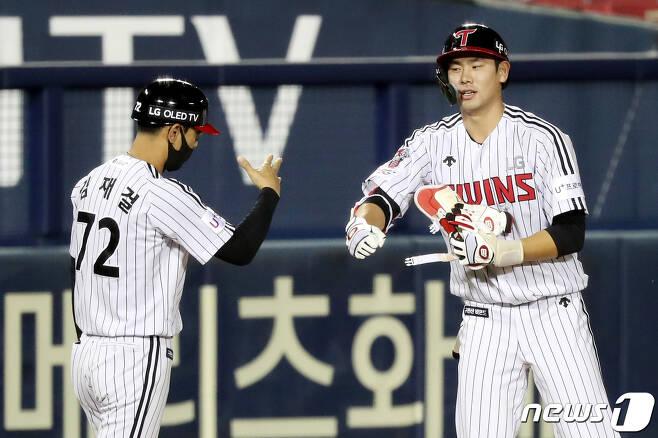 LG 트윈스 홍창기. 뉴스1 © News1 민경석 기자