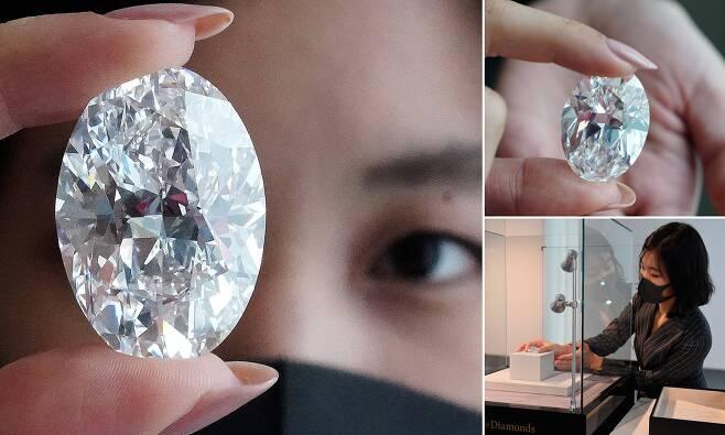 무려 '356억' 달걀만한 '102캐럿 다이아몬드' 경매 나온다(사진=로이터 AFP 연합뉴스)