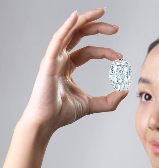 102.39캐럿 무결점 다이아몬드(사진=소더비)