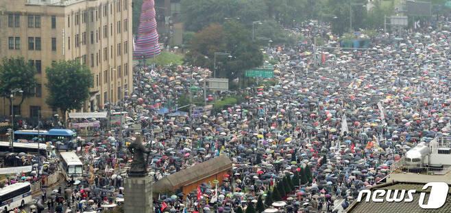 서울 종로구 광화문광장.2020.8.15/뉴스1 © News1 김명섭 기자