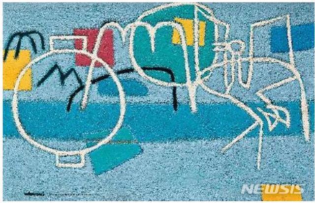 [서울=뉴시스] 김환기, L'Endroit Où J'habitais Where I Lived<l'endroit lived, oil on canvas, 60.2☓92.2cm, 1956, 추정가 별도문의. 사진=서울옥션 제공. 2020.9.14. photo@newsis.com</l'endroit>