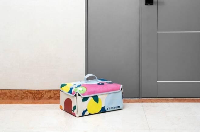 재활용 가능한 보냉백을 활용해 배송 쓰레기를 없애고 있는 쿠팡의 신선식품 배송 서비스 '로켓프레시'/사진제공=쿠팡