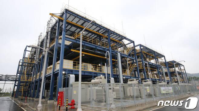 대산 수소연료전지 발전소 시설. /뉴스1 DB © News1 김기태 기자