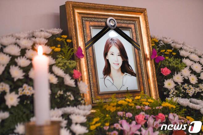 배우 오인혜의 빈소/뉴스1 © News1 사진공동취재단