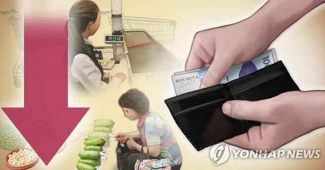 소비심리 하락 (PG) [장현경 제작] 사진합성·일러스트