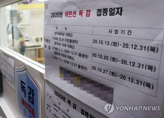 코로나19 유행 속 독감백신 접종 필수 [연합뉴스 자료 사진]