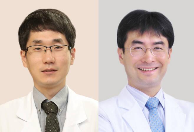 왼쪽부터 서울아산병원 신경과 장준영 교수, 서울대병원 가정의학과 박상민 교수