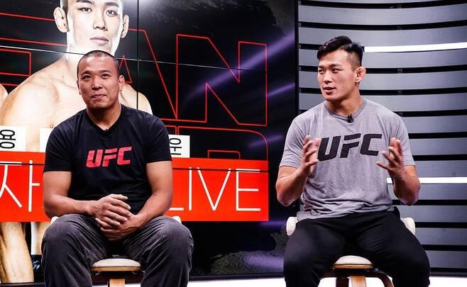 UFC 출사표 밝히는 정다운(오른쪽)과 박준용 [커넥티비티 제공. 재배포 및 DB 금지]
