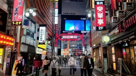 일본 도쿄도 신주쿠구 가부키초 유흥가는 룸살롱, 호스트클럽, 안마시술소 등 풍속업소들이 밀집해 있는 대표적인 지역이다.