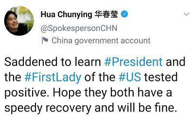 화춘잉(華春瑩) 중국 외교부 대변인 트위터 게시물 [트위터 캡처. 재판매 및 DB 금지]