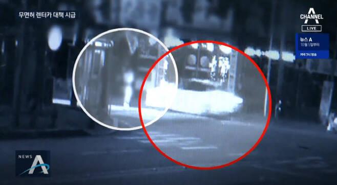 지난 1일 전남 화순군의 삼거리 교차로에서 10대가 몰던 차량에 20대 여성이 치여 숨졌다. 사진은 사고 장면이 담긴 CCTV 화면. (사진=채널A 뉴스 방송화면)