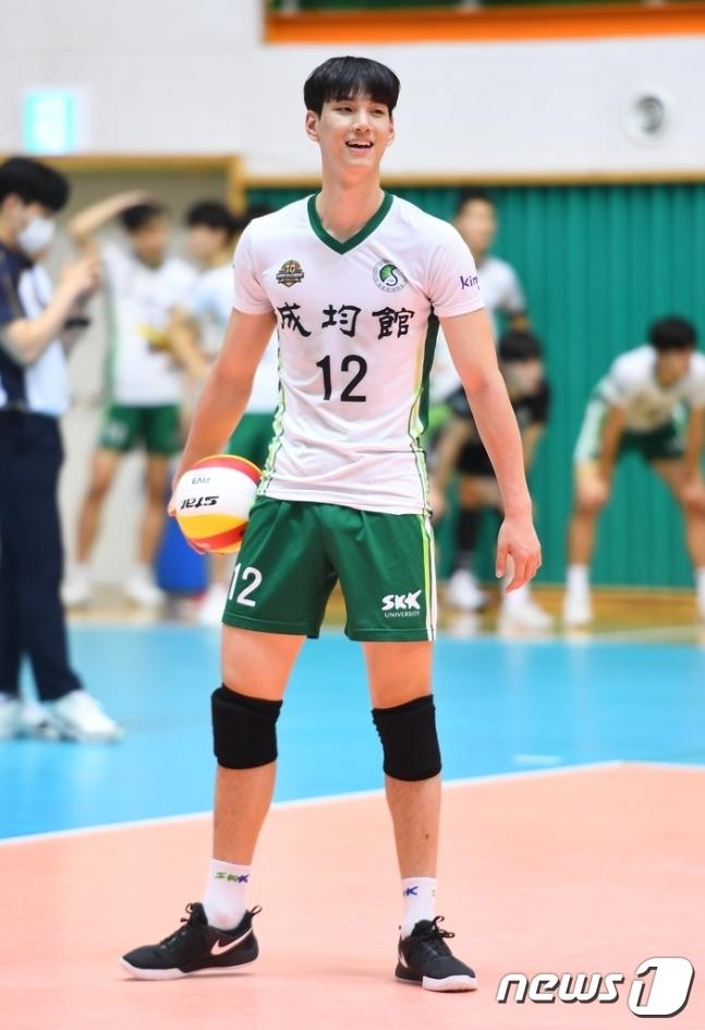 한전 유니폼을 입게 된 임성진. (한국배구연맹 제공) © 뉴스1
