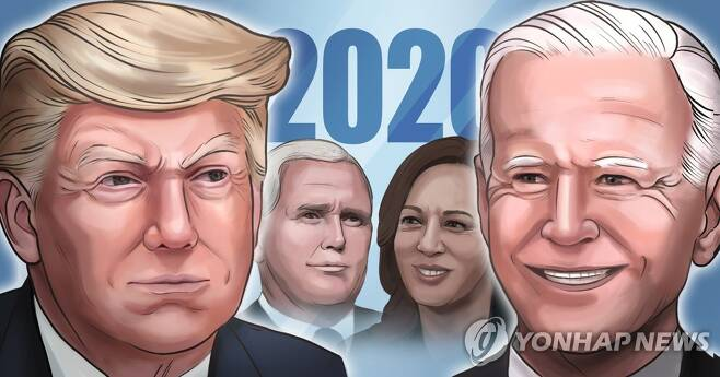 2020 미국 대통령선거 후보 (PG) [김민아 제작] 일러스트