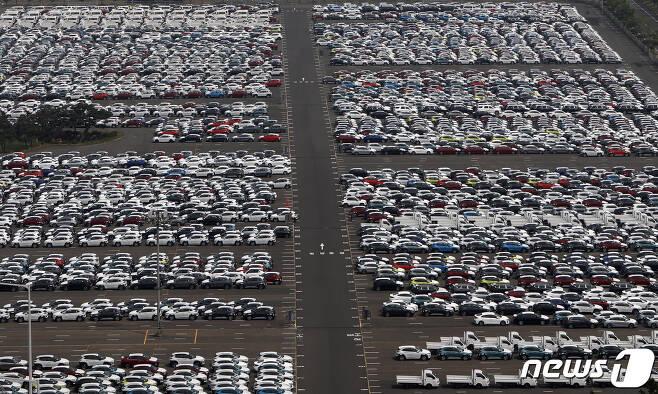 지난 6월 현대자동차 울산공장 야적장의 모습. (뉴스1 DB) /뉴스1 © News1 윤일지 기자